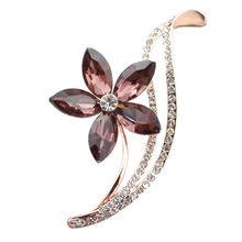 Cindy Xiang Berlian Imitasi Bunga Bros untuk Wanita Desain Sederhana Fashion Perhiasan Pernikahan Pin Bros dan Perhiasan Bros Hadiah(China)