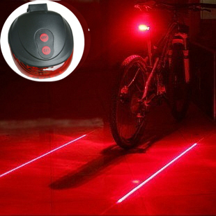 High quality (5LED+2Laser) 7 flash mode Cycling Safety Bicycle Rear Lamp, waterproof Bike Laser Tail Light Warning Lamp Flashing(China (Mainland))