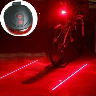 High quality (5LED+2Laser) 7 flash mode Cycling Safety Bicycle Rear Lamp, waterproof Bike Laser Tail Light Warning Lamp Flashing(China (Mainland))