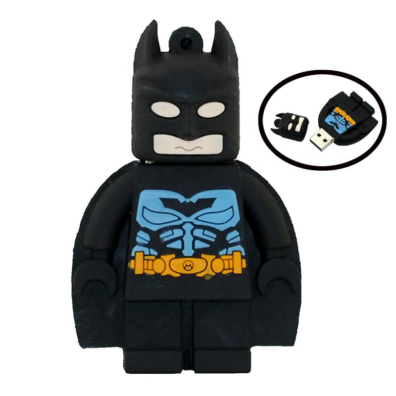 Hot Sell 8GB 16GB USB Drive Cartoon Character Batman 32G Pen Drive USB 2.0 Flash Memory PenDrive Batman USB Flash Drive Gift(China (Mainland))