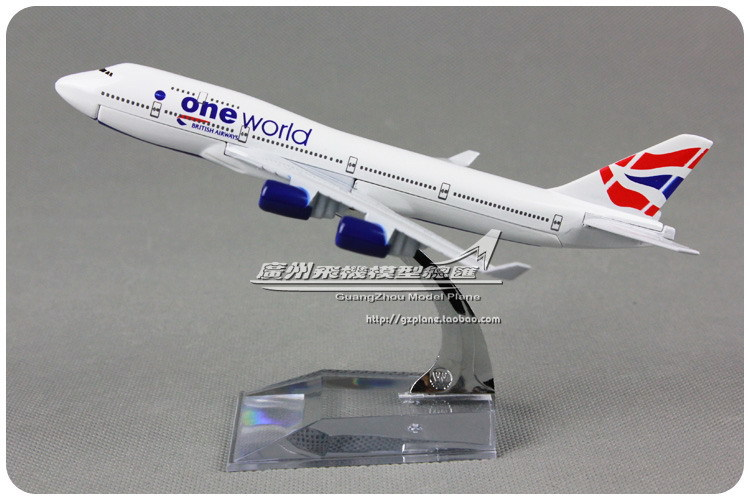One World British Airways Boeing B747-400 oneworld alloy aircraft model 16cm(China (Mainland))