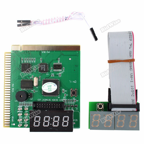 bidwise New hot 4 Digit PCI ISA Tester PC Post Card w External Display Latest!(China (Mainland))