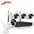 2017 New Plug And Play 4CH Wireless NVR Kit P2P 720P HD Outdoor IR IP Video