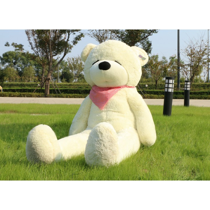 "Joyfay 71"" 180cm White Giant Teddy Bear 1.8m Sleepy Huge Stuffed Plush Animal Big Soft Toy Birthday Valentine Anniversary Gift(China (Mainland))"