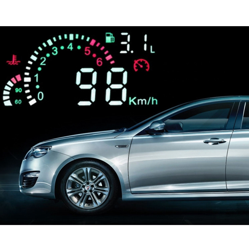 Car HUD Showing Head Display Overspeed Warning System Vehicle-Mounted Insert OBD II f02 - Meplus Electronic store