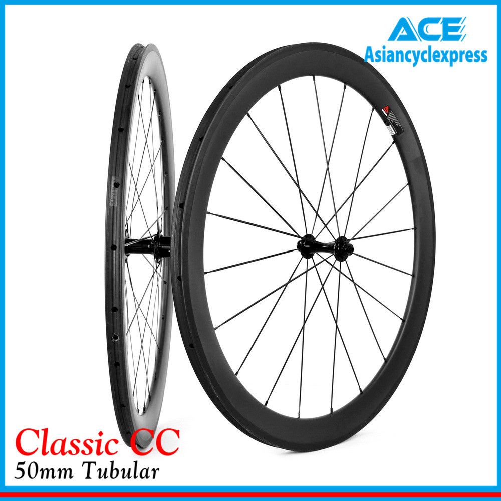 Asiancyclexpress 2015 Free shipping 700C Classcial bike wheel 50mm Tubular Road bicycle chinese carbon wheels 2015-CC50T-W(China (Mainland))