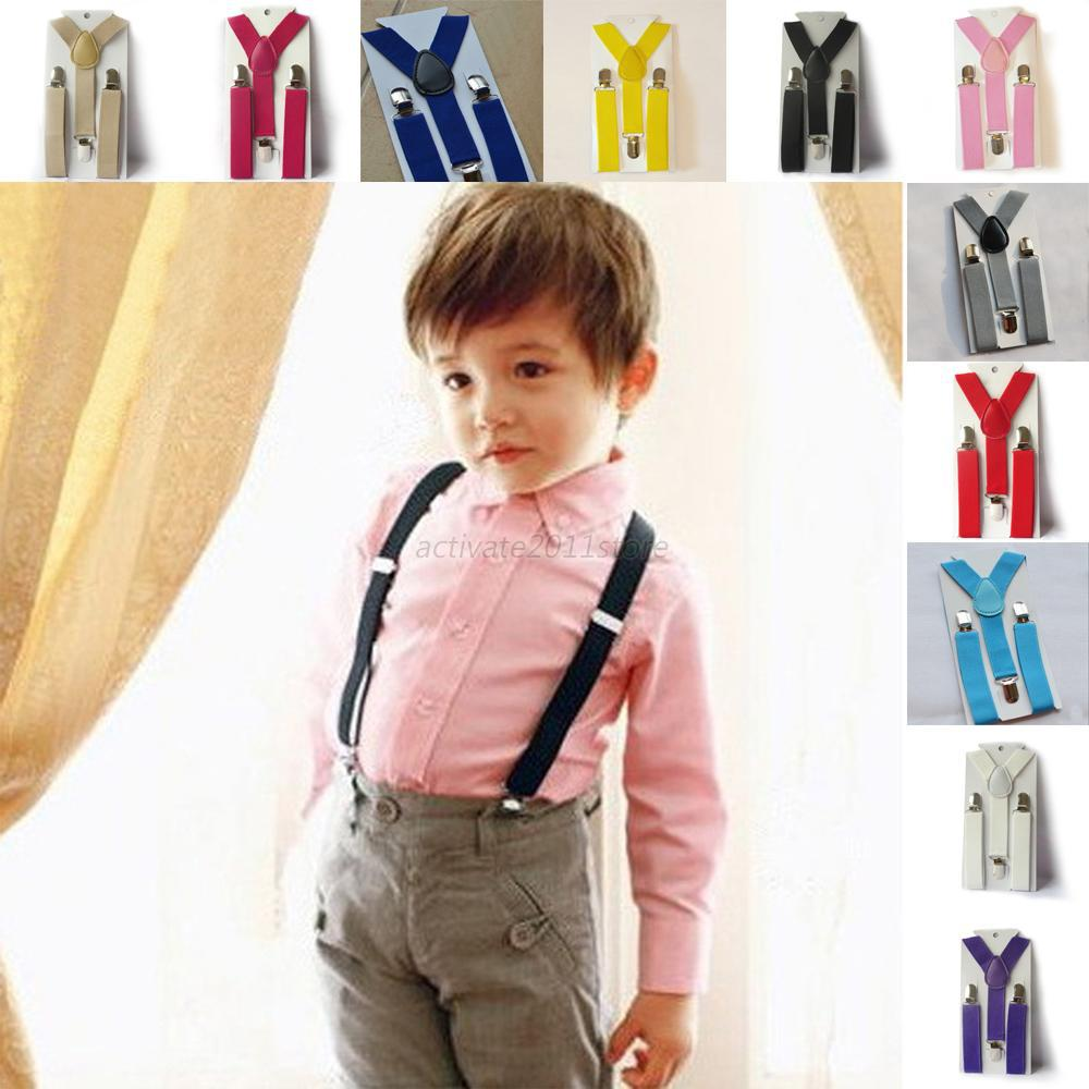 Boys Girls Kid Children Clip on Y Back Elastic Suspenders Slim Adjustable Braces Baby Clothes Brands
