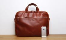 LAN  genuine leather men's briefcases cow leather leisure business handbag high grade messenger bag(China (Mainland))