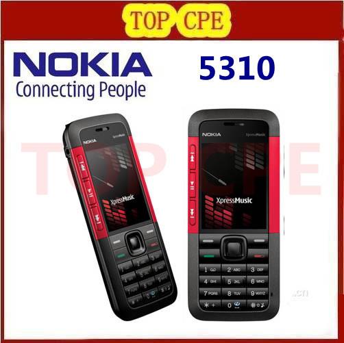 Original 5310 Nokia 5310 XpressMusic Bluetooth Java Phone 2MP MP3 palyback Refurbished Freeshipping(China (Mainland))