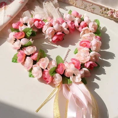 Buy Heart Shape Foam Rose Garland Door