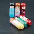 6pcs set Lipstick Cartoon Kimono Doll Lip Stick Lip Balm Lasting Moisturizing Natural Plant Sphere Lip