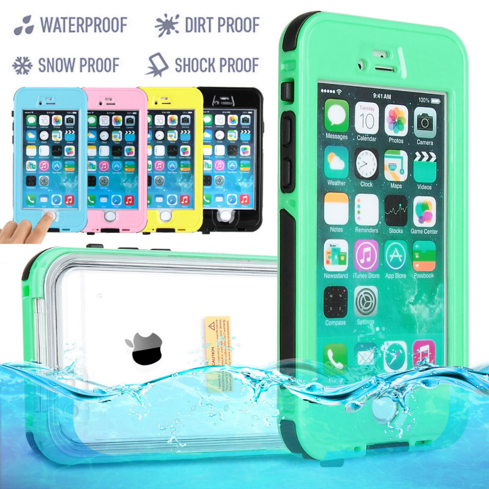 "HIGHT QUALITY WATERPROOF SHOCKPROOF DIRTPROOF CASE COVER FOR APPLE IPHONE 6 4.7"" & 6 PLUS 5.5"" Multicolors FREE SHIPPING(China (Mainland))"