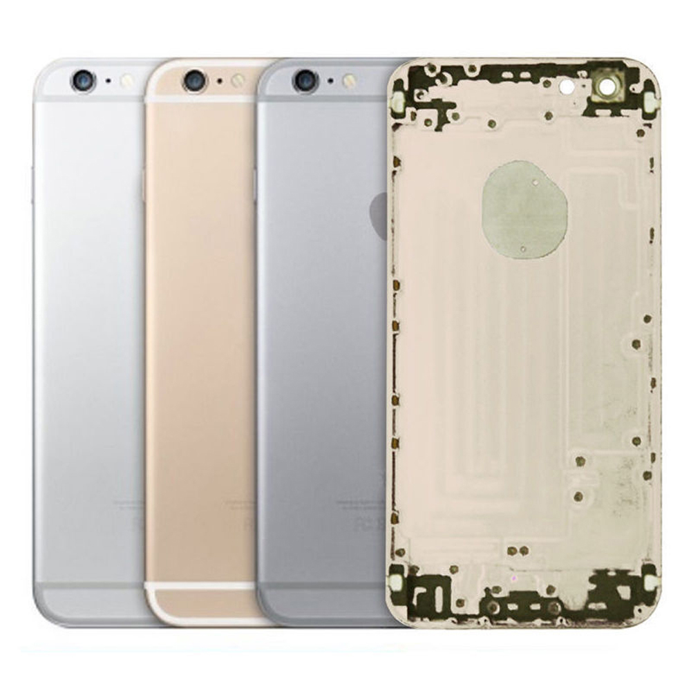 New Metal Battery Case Housing Cover Door Frame For Apple iPhone 6 & 6 Plus Replacement Parts IMEI Gold Silver Gray(China (Mainland))