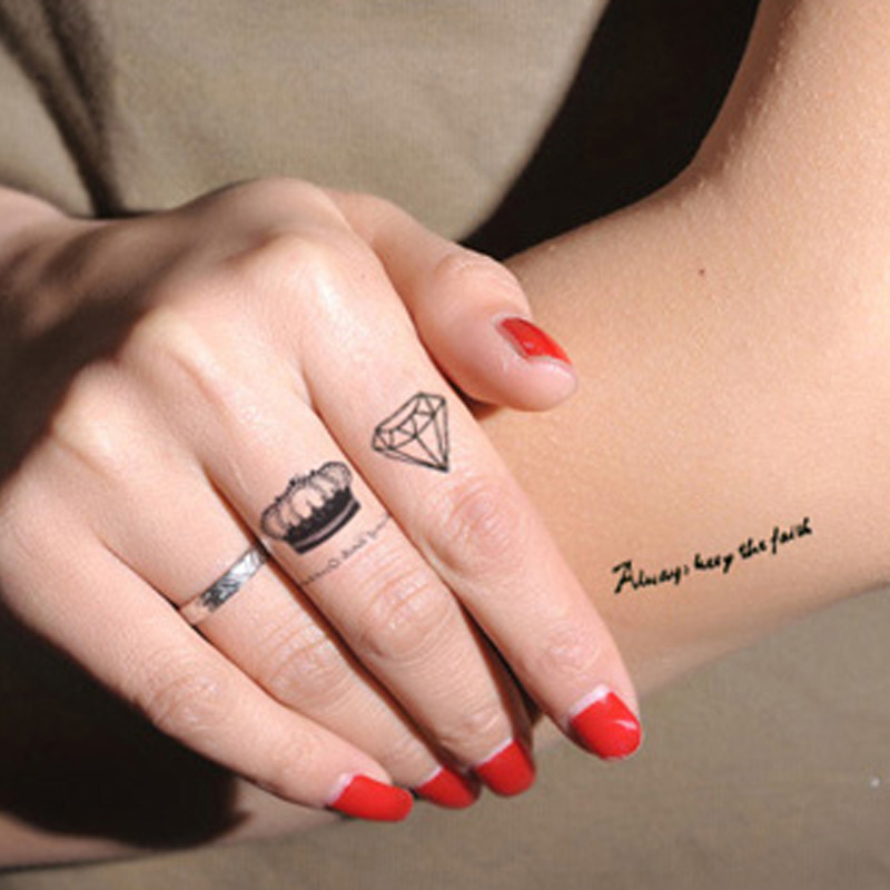 2pc Sex Fake Tattoo Decal Waterproof Temporary Tattoo Sleeve Body Tattoos Stickers On The Body For Woman Star Letter Crown Henna(China (Mainland))