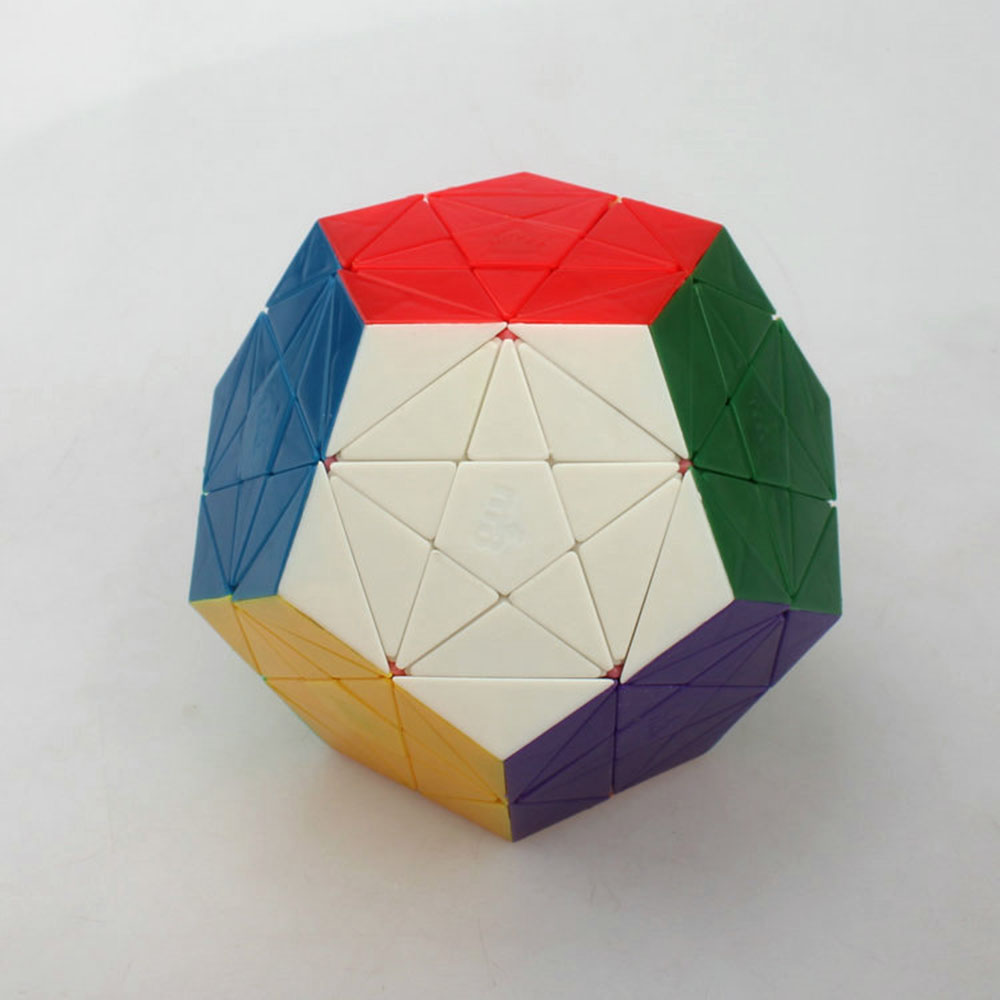 9 cm dodecahedron magic cube color bottom corner Cubo Magico Puzzle Speed Classic Toys Learning & Education For children(China (Mainland))