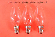 C9 Transparent Replacement Lamps 7W Clear 25 Triple Dipped Christmas Light Bulbs Christmas Decoration Free Shipping(China (Mainland))