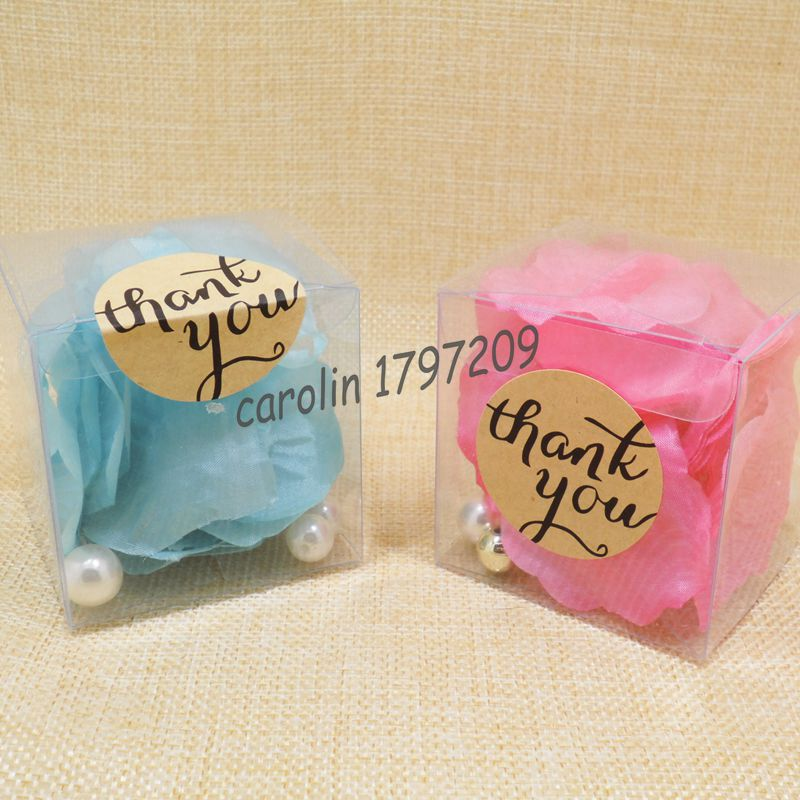 Baby Shower Thank You Gift Boxes : Pcs clear pvc candy boxes wedding favor box with thank