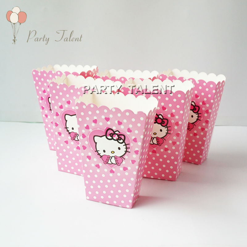Wholesale Popcorn Box For Kids Children Hello Kitty Theme Birthday