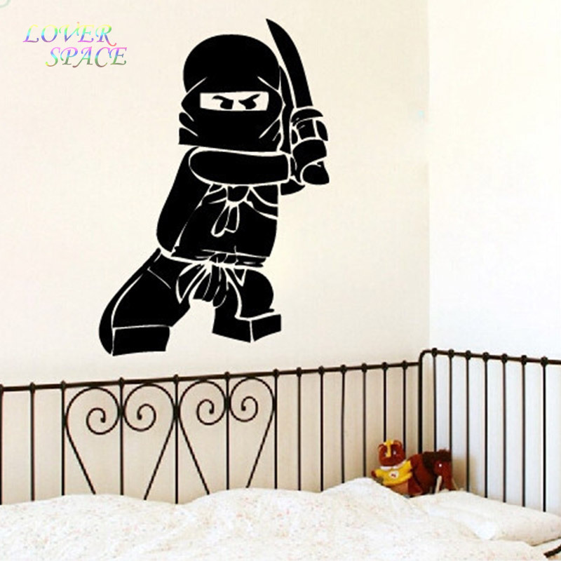 NEW Ninjago Lego Vinyl Wall Decal Sticker Kids Boy Room Decor Children's Play Room Wall Decor Wall Stickers Free Shipping