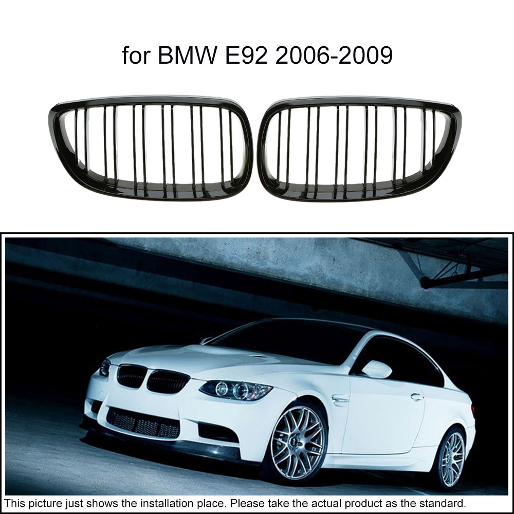 One Pair of Car Gloss Black Front Grille Decoration Grilles for BMW E92 2006-2009(China (Mainland))