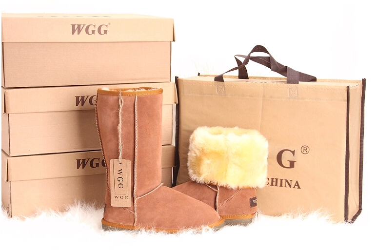 Hot Selling Fashion WGG Brand Genuine Leather Fur Warm Winter Autumn Women High Snow Boots shoes woman  -  iGem store