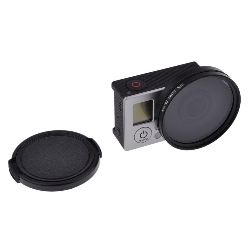 Neewer GO pro 52mm CPL Circular Polarizer Lens Filter + Adapter + Protective Cap Set for Gopro Hero 3 3+ Camera Free Shipping(China (Mainland))