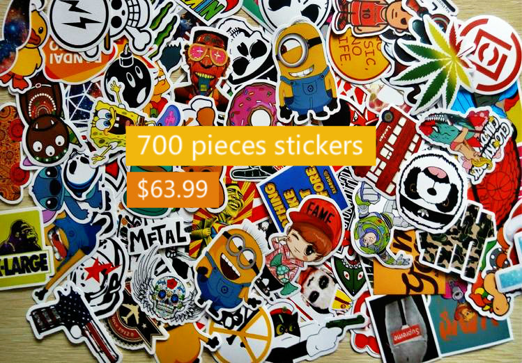 700Pcs Home decor jdm car sticker on car styling laptop sticker decal motorcycle skateboard doodle stickers for car accessories(China (Mainland))