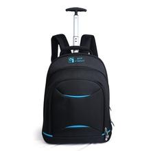 Brand Designer Men High Quality Waterproof Trolley Travel Bag Wheeled laptop Backpack Rolling Duffel Bag Business Computer Bag(China (Mainland))