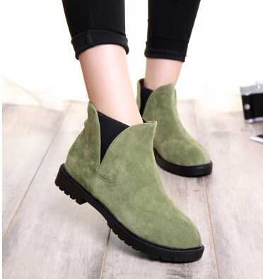 Retro England fan Europe cool pointed Martin boots boots, single elastic thick bottom USES short - YIRDSHOW store