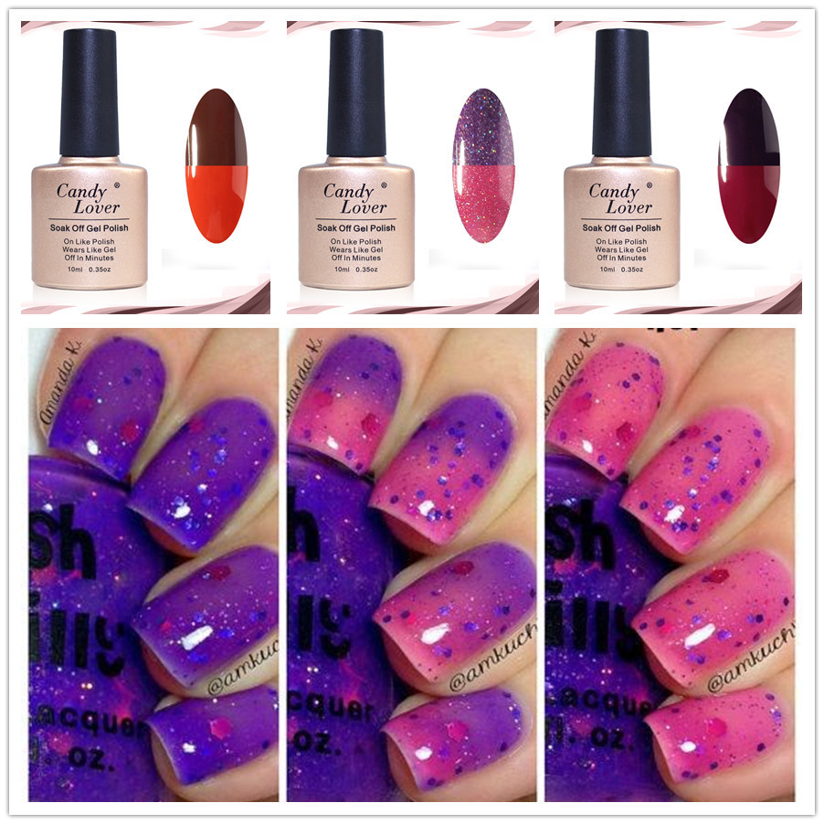 Candy Lover Mood Color Changing Nail Polish Lacquer Long