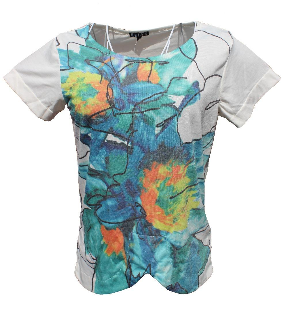 t shirt women clothing Flowers fashion print Summer Short-Sleeved Cotton women's camisetas Femininas roupas femininas - The only design studio store