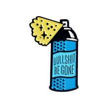 Repellente per zanzare Pulsante patatine fritte Smalto Spilli Spille Detersivo In Scatola bevanda Spille k Spille Grande bottiglia spray per le donne Distintivo Giubbotti Gioielli regalo(China)