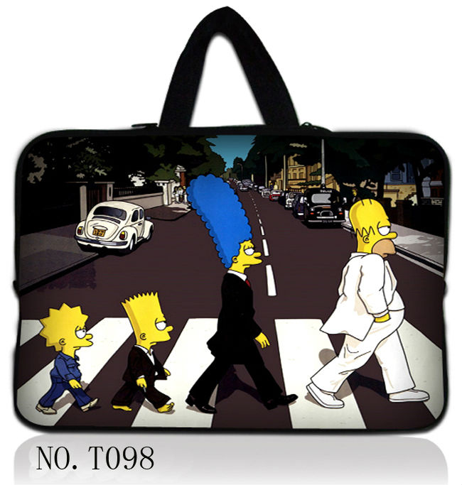 """Simpson 17"""" 17.3"""" Laptop Sleeve Case Handle Bag For HP DELL ASUS Acer Computer Cover(China (Mainland))"""