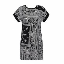 women dress 2015 casual summer Dress Plus Size Women's Clothing Chic Tropical Floral Print Cotton T-shirt Dresses vestidos(China (Mainland))