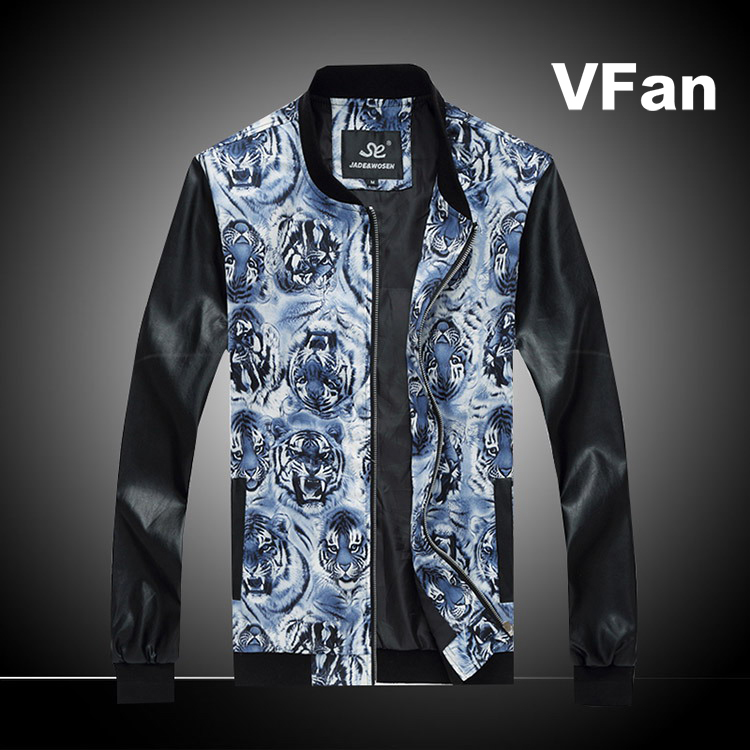 2015 New Autumn Brand Fashion Slim PU Leather Men Casual Sports Baseball Collar Plus Size M-5XL Outwear Jacket E1538(China (Mainland))