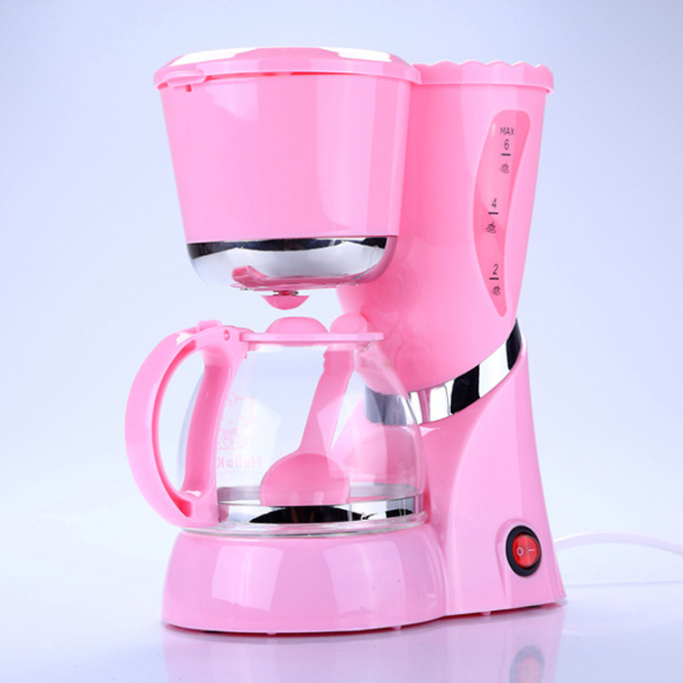Cute Hello Kitty factory outlets automatic coffee machine home 6L drip coffee maker-in Coffee ...