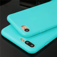 Buy Ultra thin candy color phone cases iphone 6 6s 6plus 6splus 7 7plus 5 SE 5s case coque soft tpu back cover silicone stock for $1.19 in AliExpress store
