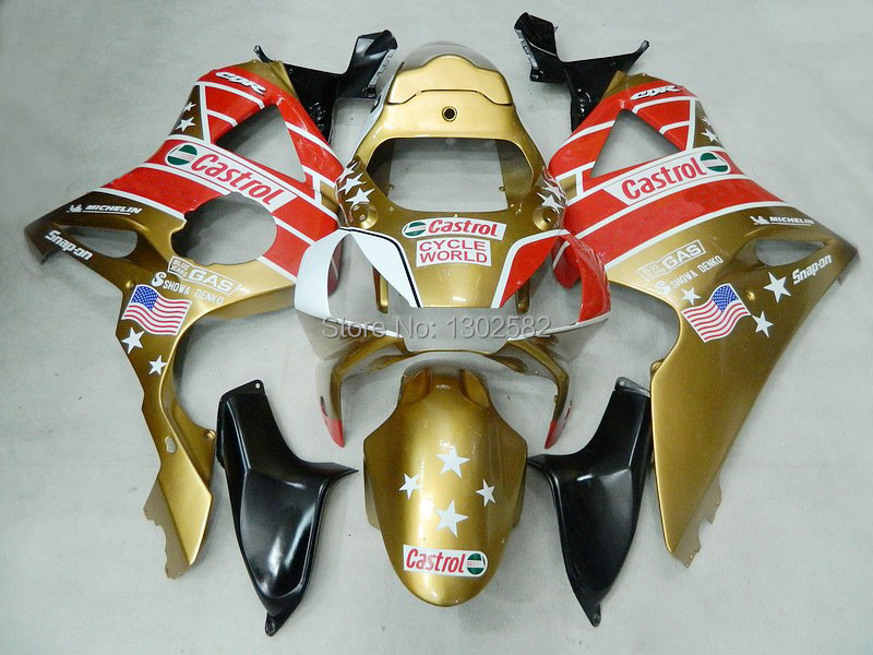 7gifts+ Fairing kits gold red HONDA CBR900RR 954 02 03 CBR 900RR 2002 2003 CBR954 954RR fairings part body #00y7 - Newstar motorcycle parts store
