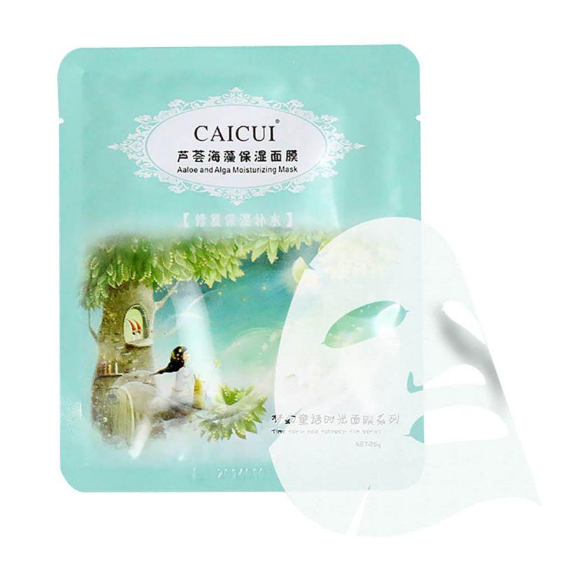 Fashion Face Care Whitening Mask Natural Aloe Alga Anti-age Moisturize Collagen Mask LI02