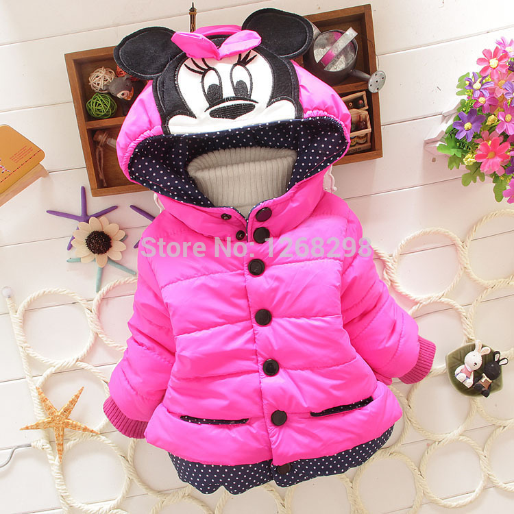 Гаджет  New Hot Minnie Mouse Baby Kids Girls Winter Warm Outwear With A Hoodie Cotton-padded Jackets Coat Cothes None Детские товары