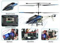 cp88901 3.5CH металла радио управления вертолетом гироскоп с свет/rc вертолет с гироскопом