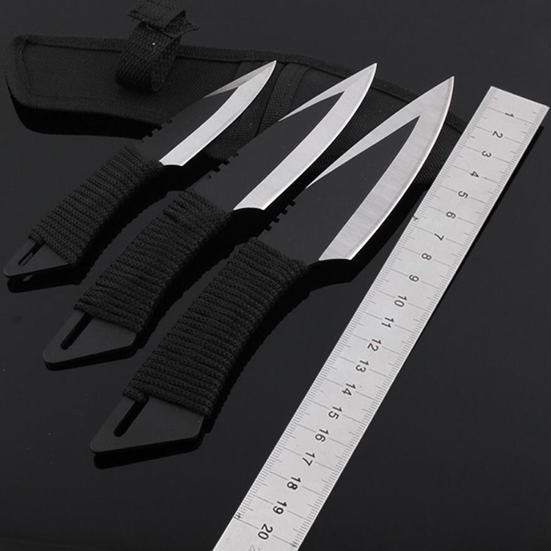 Buy 3PCS/Set NAVAJAS Cold Steel Blade Cs Go Hunting Knife Rescue Portable Fixed Pocket Knife Outdoor Tactical Survival Knives cheap