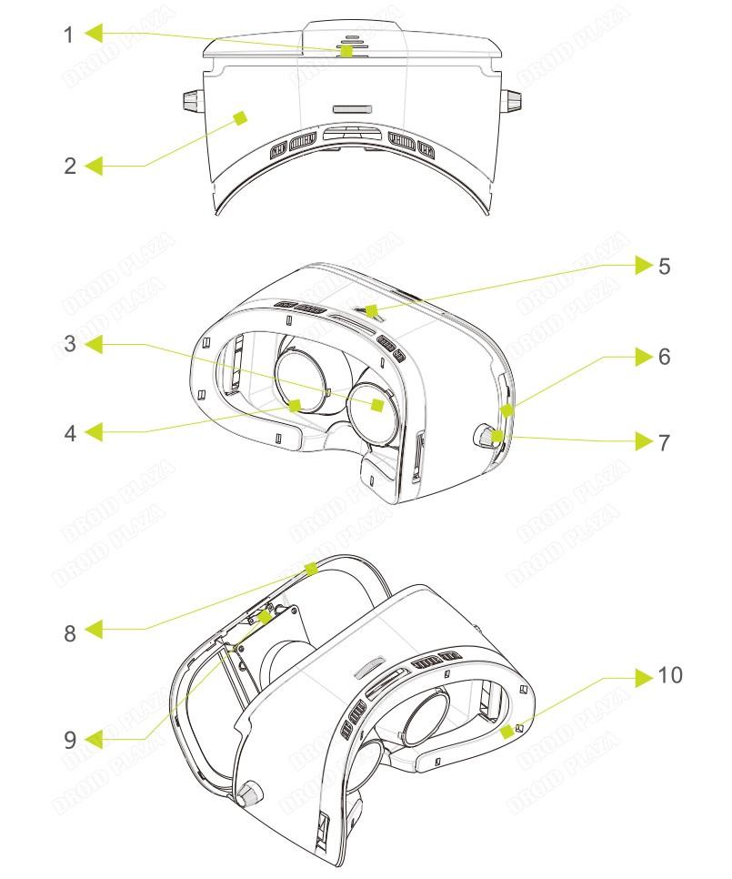 BOBOVR Z3 3D VR Glasses Virtual Reality Helmet Xiaozhai VR