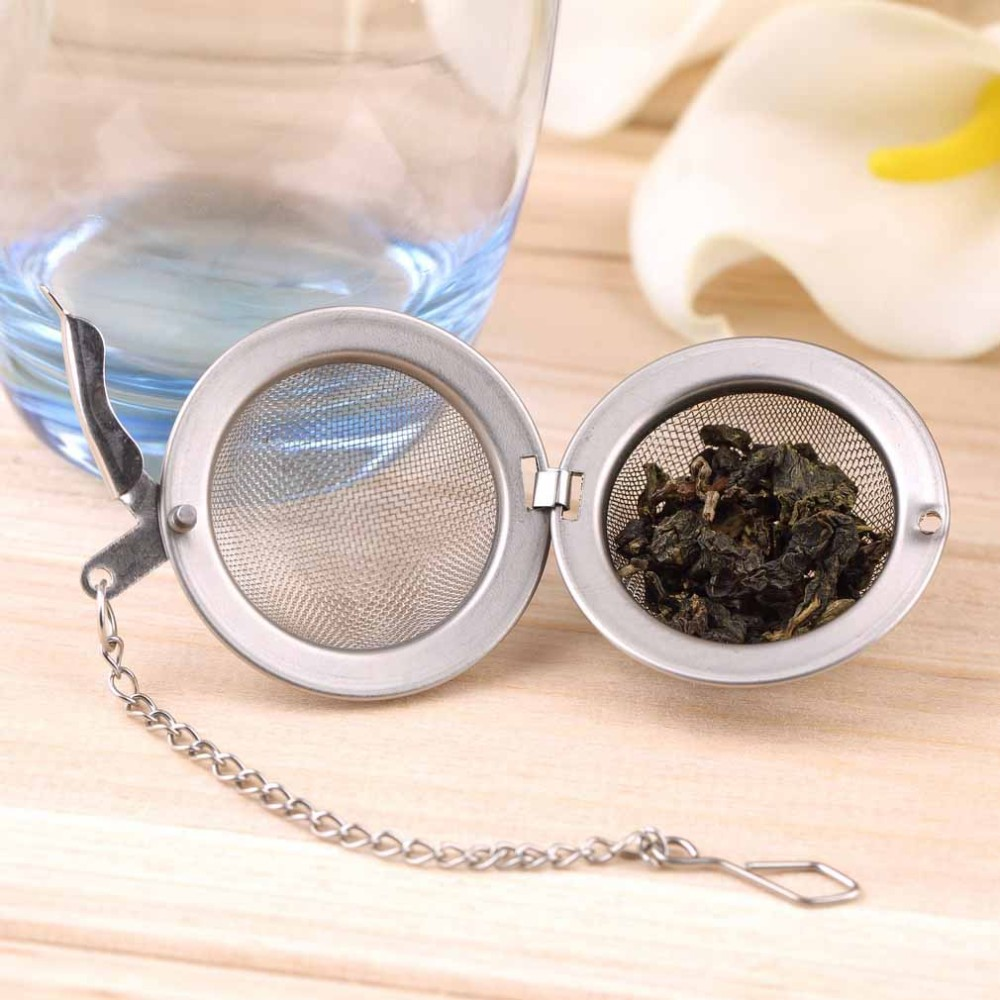 1 Stainless Steel Sphere Locking Spice Tea Ball Strainer Mesh Infuser tea strainer Filter infusor Mesh Herbal Ball cooking tools