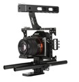 15mm Rod Rig DSLR Camera Video Cage Kit Stabilizer Top Handle Grip for Sony A7 II
