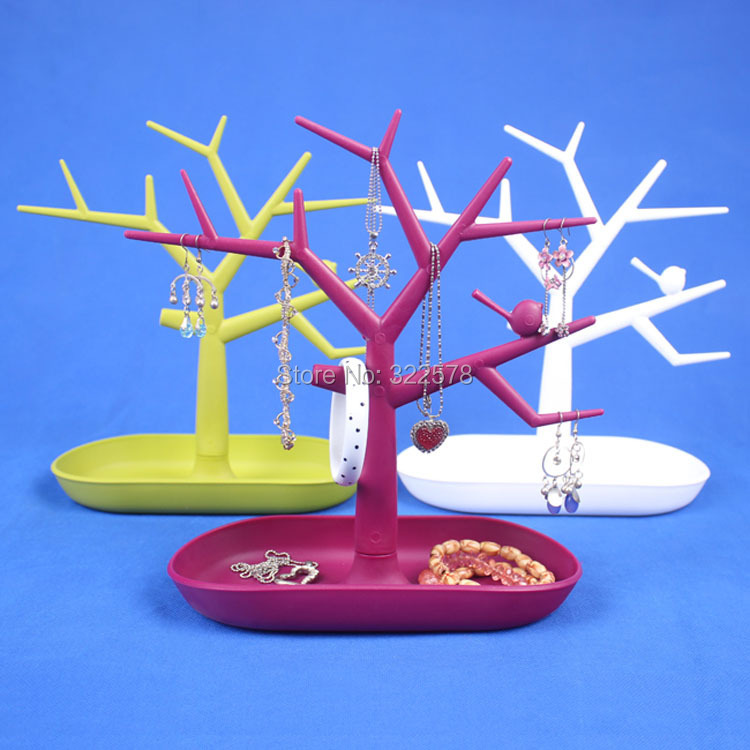 Bird tree multifunctional jewelry holders accessories display rack earring ring frame bracelet storage - Hongkong Xinteng household Shop store