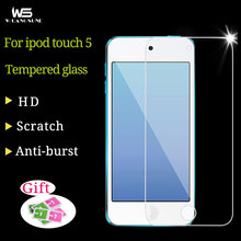 For Apple iPod Touch 5 Genuine Explosion Proof Premium Tempered Glass Film Screen Protector Anti Shatter Film Free Shipping