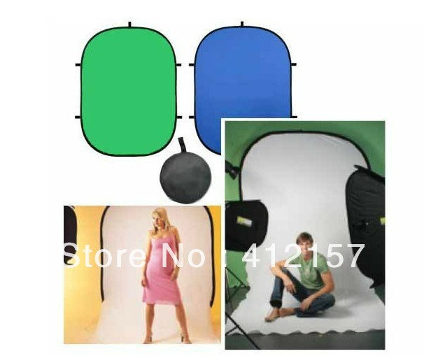 60x90cm Photography Studio Portable Outdoor Green Blue Screen Chromakey Backdrop 2in1 COLLAPSIBLE BACKGROUND carryingbag - universal direct store