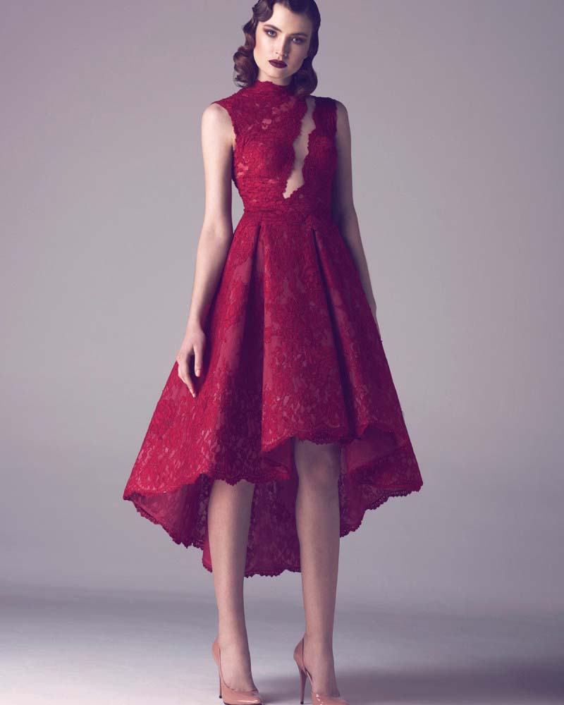 Aliexpress.com : Buy Modest Wine Red Lace Short Plus Size ... - photo #16