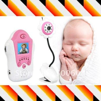 Lovely Flower baby monitor, 2.4ghz video baby camera 1.5 tft-lcd IR night vision for Kids security